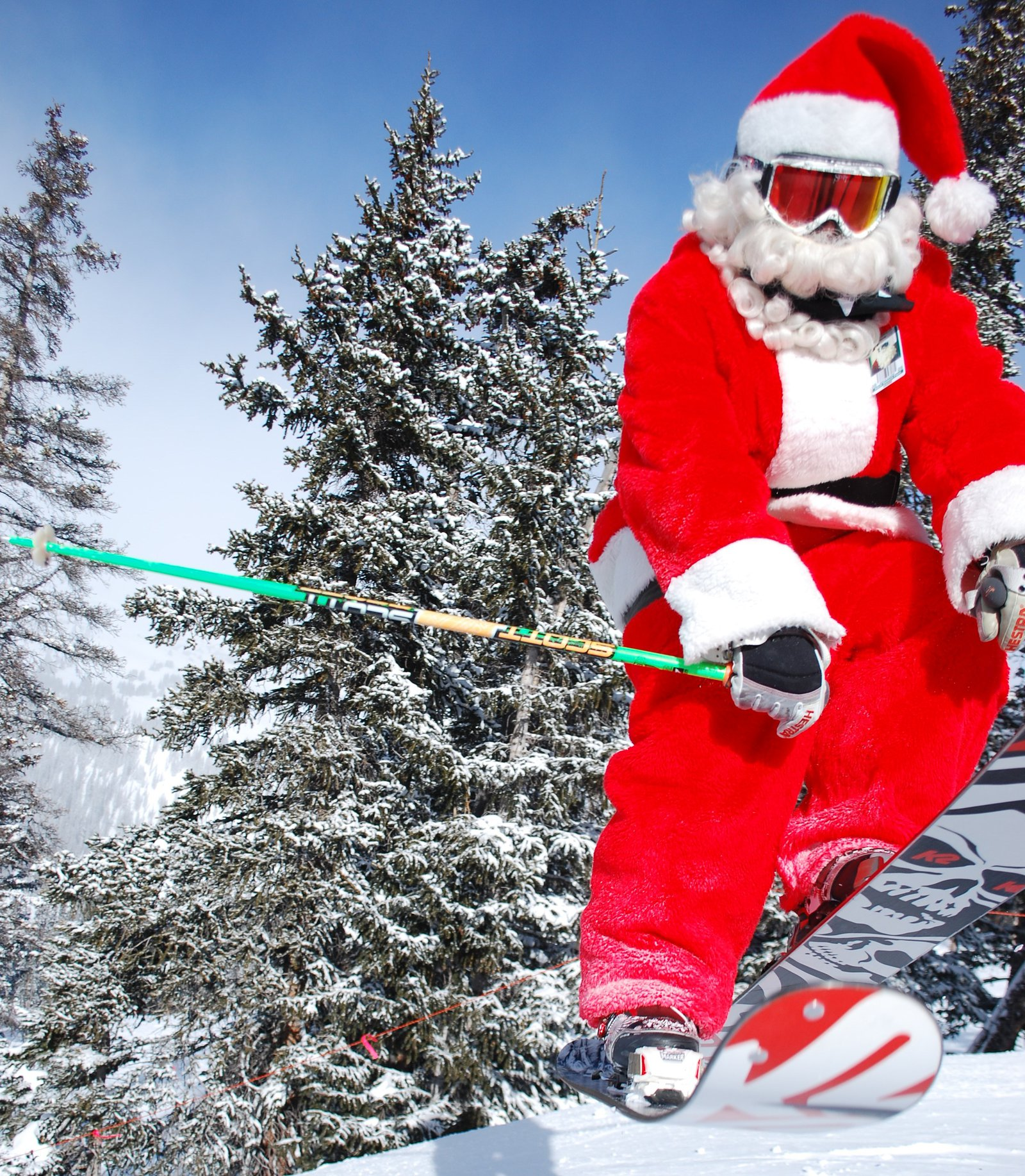 Santa Throwing Down @ Loveland Ski Area