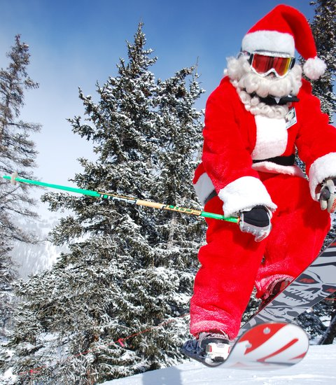 Santa Throwing Down @ Loveland Ski Area