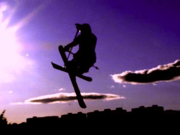 Purple ski