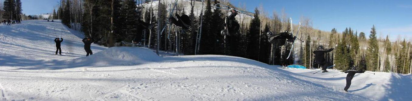 Front flip at the Canyons, UT