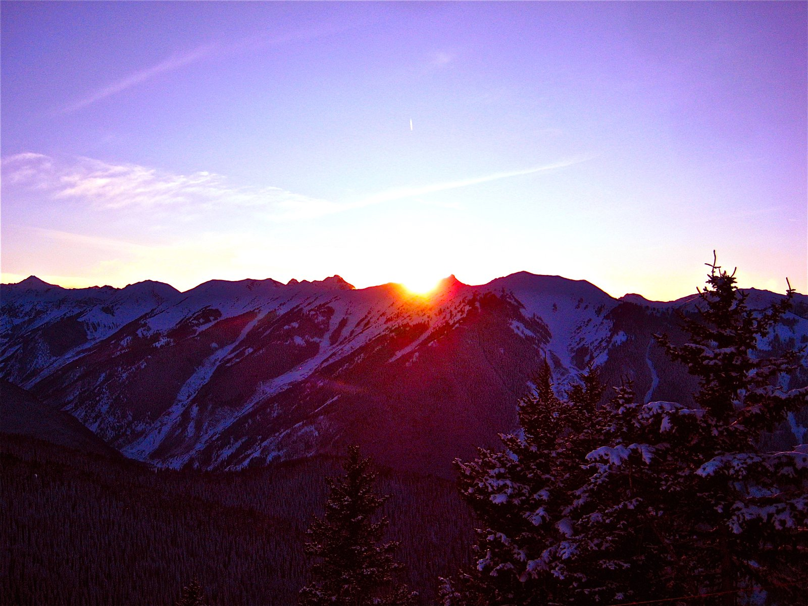 Sunset over Highlands Bowl