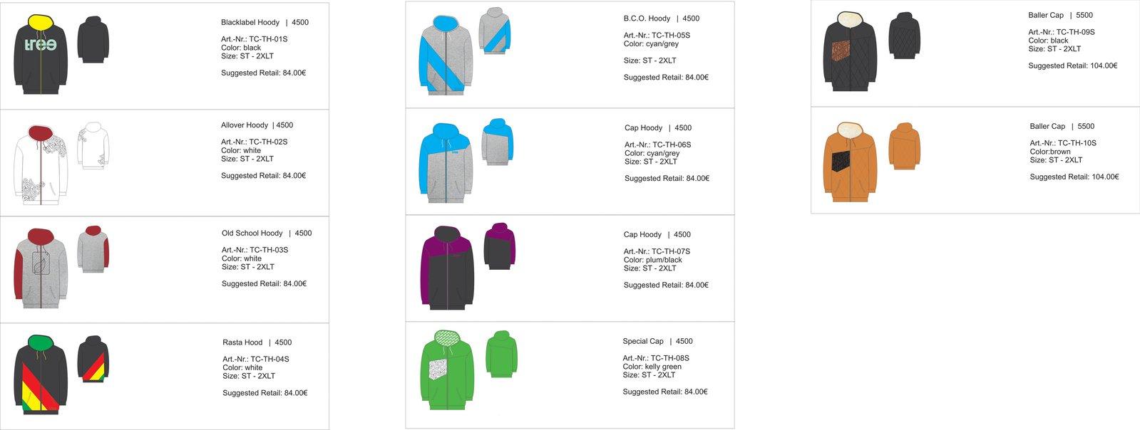 Tree-clothing hoodies