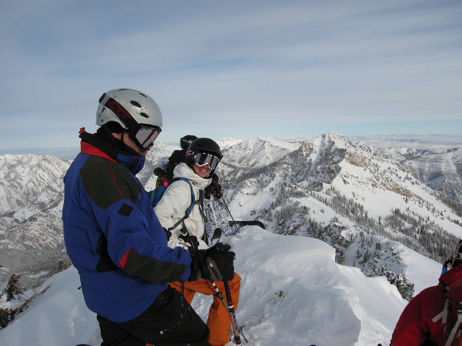Right after the heli dropped us, gettin ready for run one