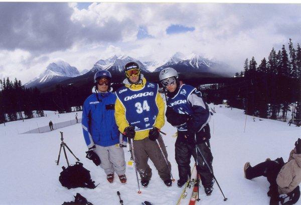 Me, Charles Bedard and JA Maheu in Lake Louise