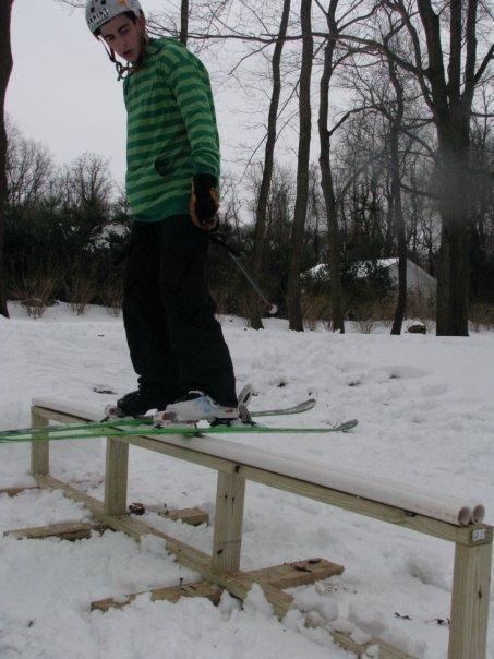My first railslide!