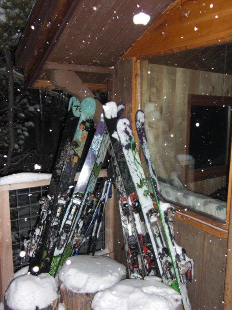 Barnard with sleds.