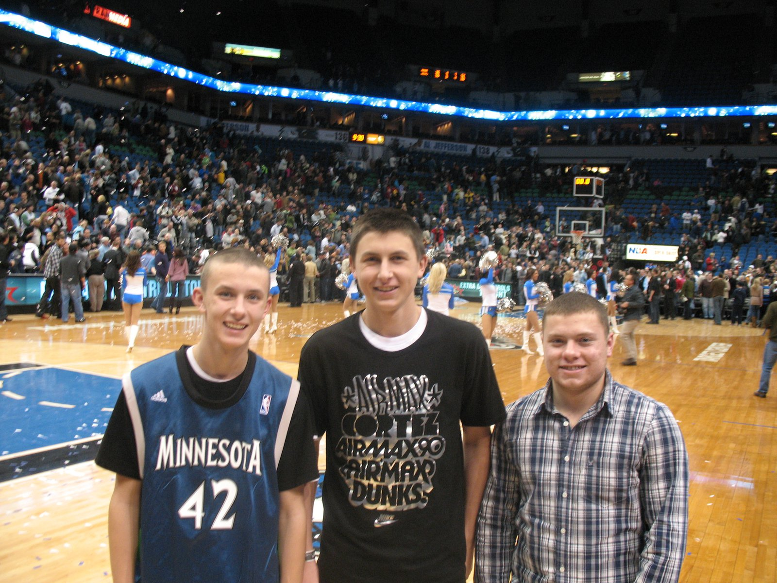 At the Timberwolves game.