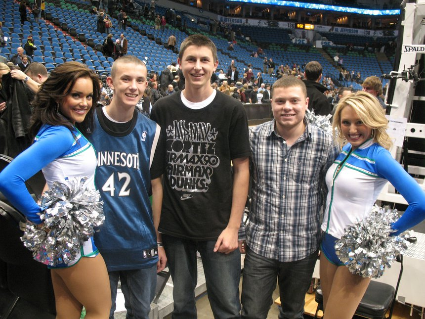 At the Timberwolves game