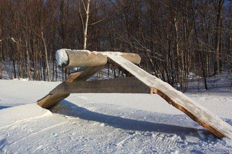 A-Frame Log Stall