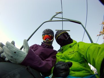 On the Lift at Hunter