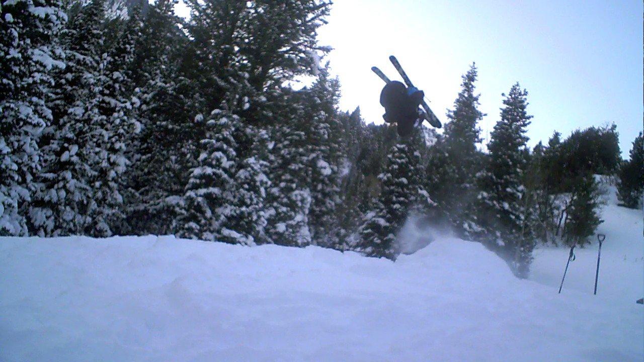 Front flip at a jump i made