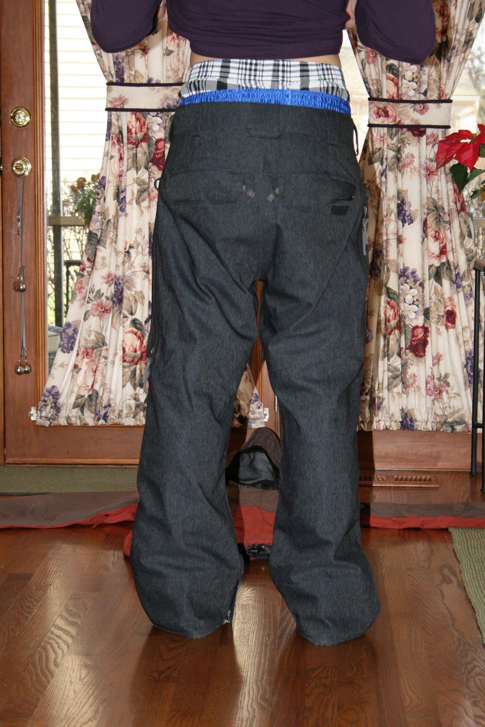 Grey dennim ski pants
