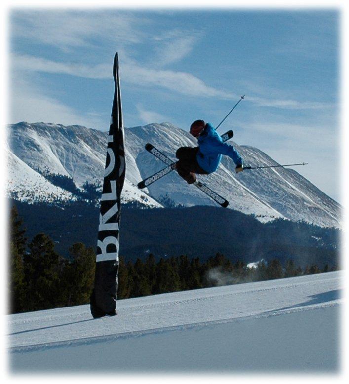 Another RMU Tele skier in Brecks pipe!