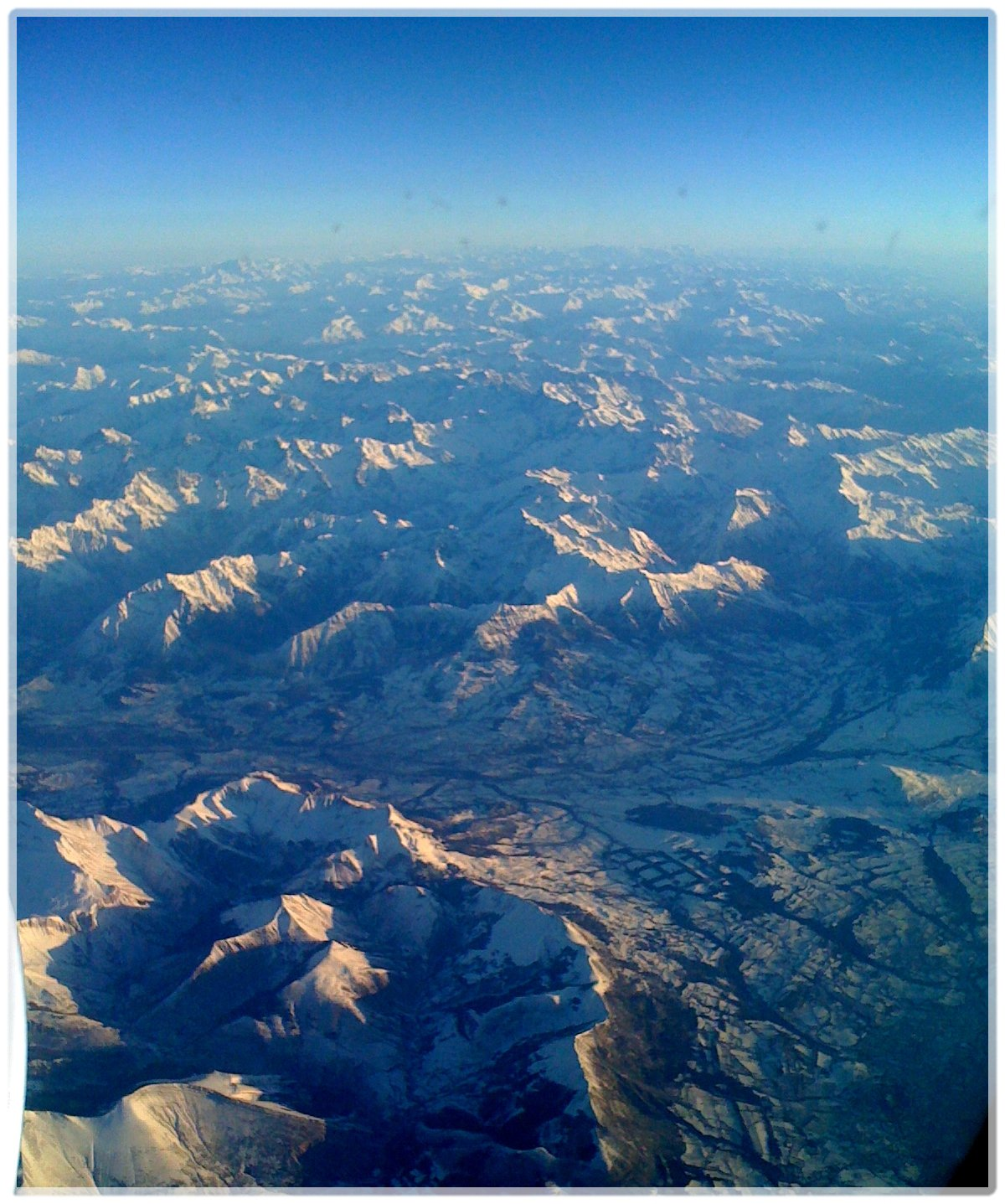 The Alps from a Plane