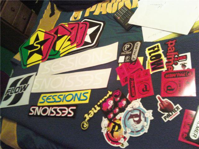 Some are decals some are stickers
