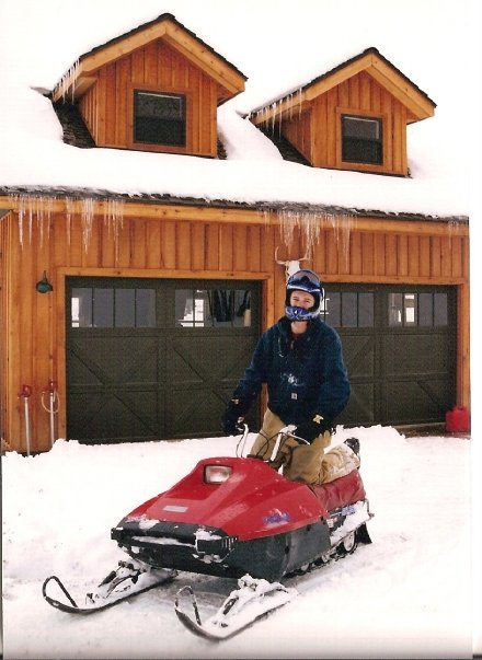 My first snowmobile