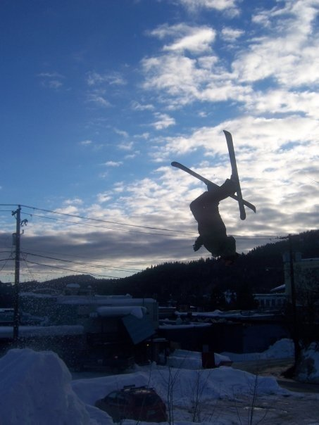 Backyard backflip