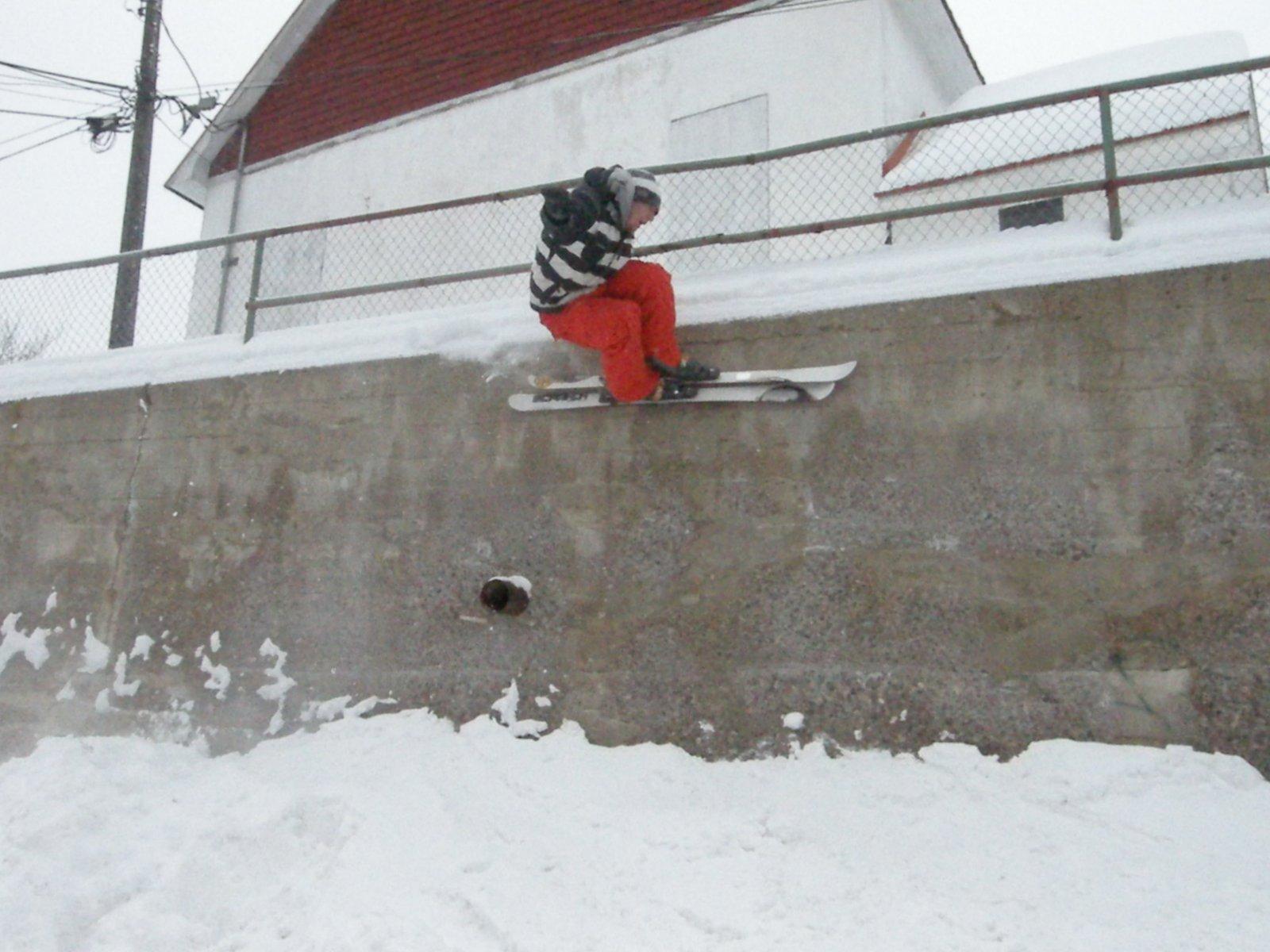 Wall ride at the church