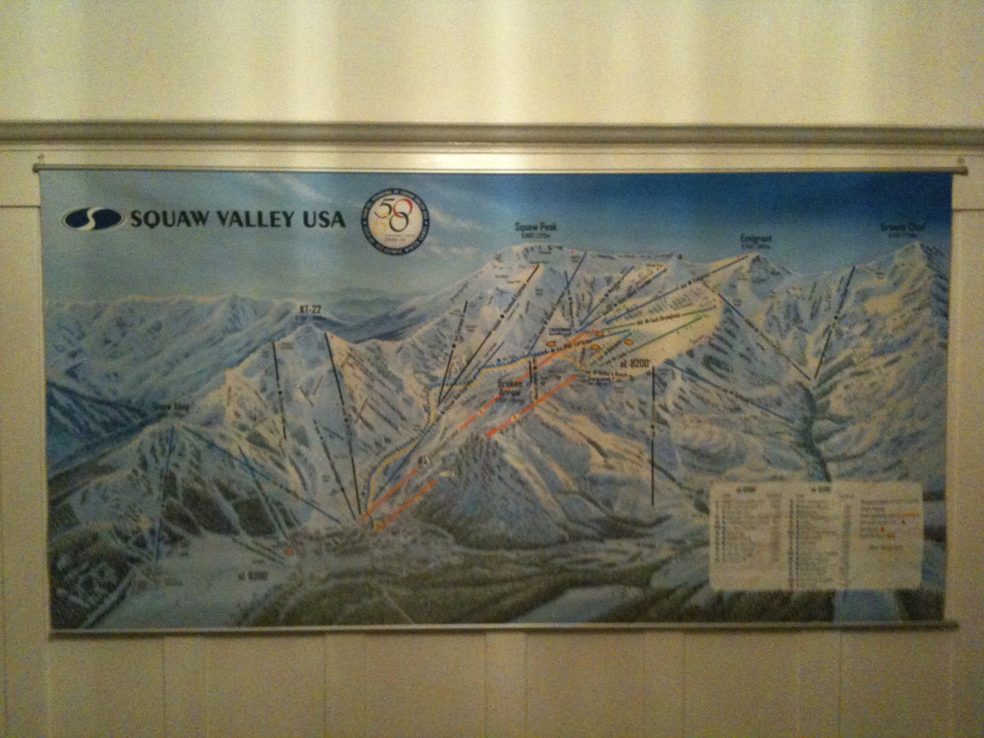 7' x 4' Squaw Valley Trail Map