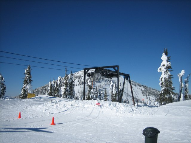 Big Blue and the Top of the Idyl-Our T-Bar