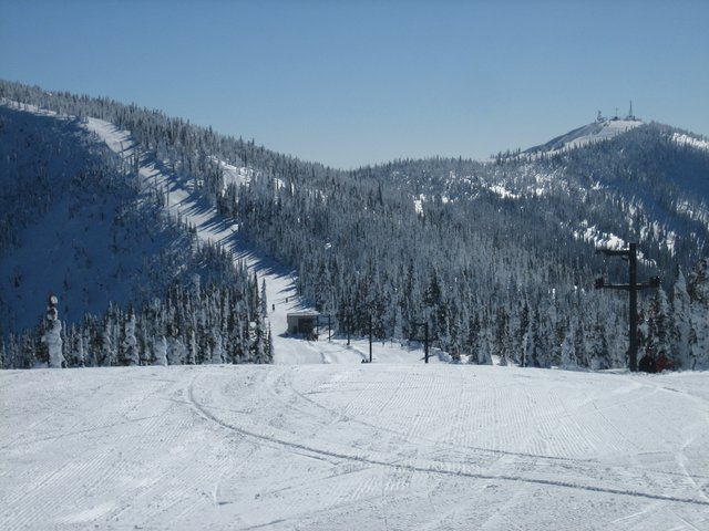 Looking Down at the Bottom of the Idyl-Our and Schweitzer Peak from Little Blue