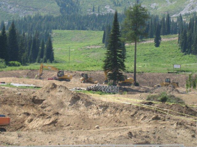 Construction at Schweitzer Mountain Resort, Summer 2007 - 5 of 8