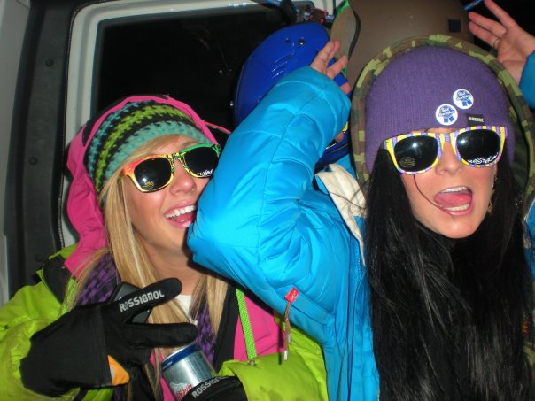 Drunk ski bus ride