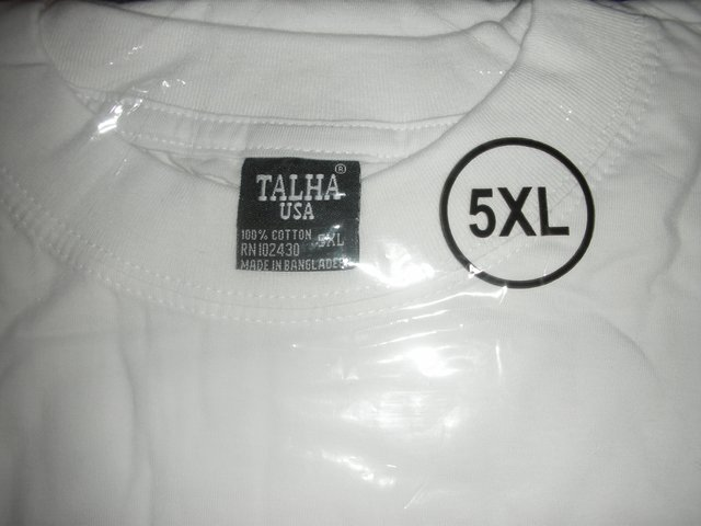 """White 5XL available (33"""" in length)"""