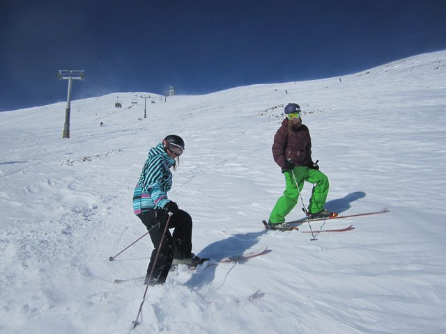 My sister and I in Breck