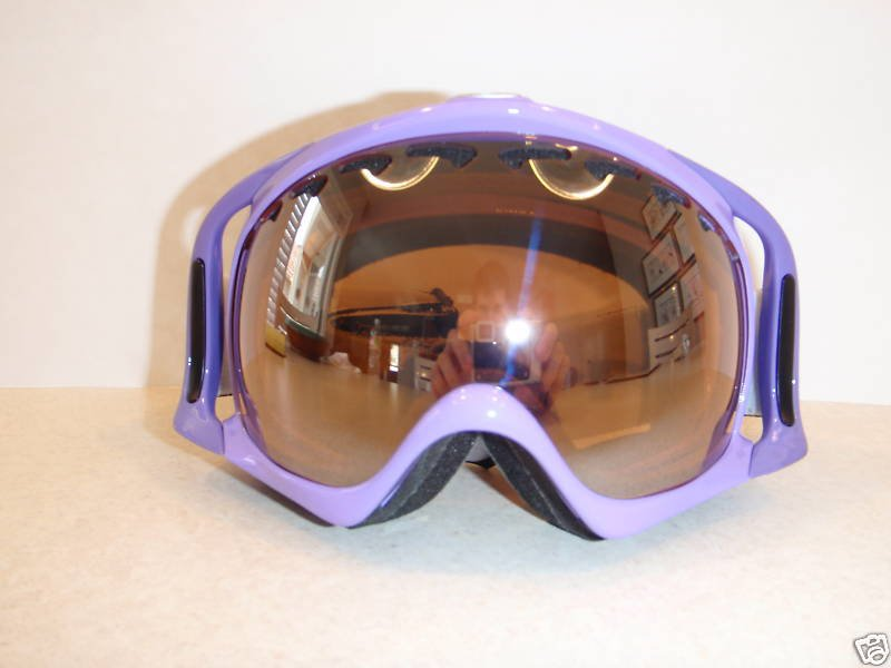 Purp pirate goggles/black iridium lense