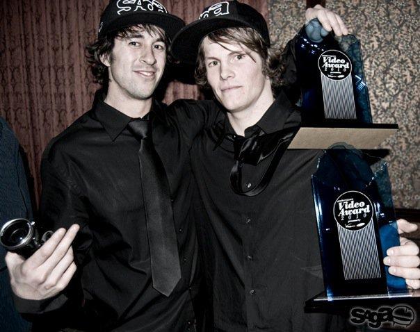 Durtschi and Austin receiving Powder Awards