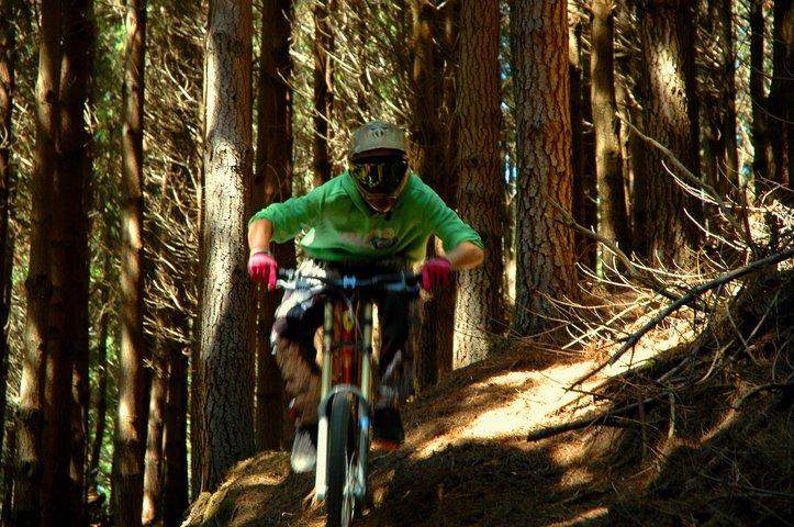 Bicycling down hills