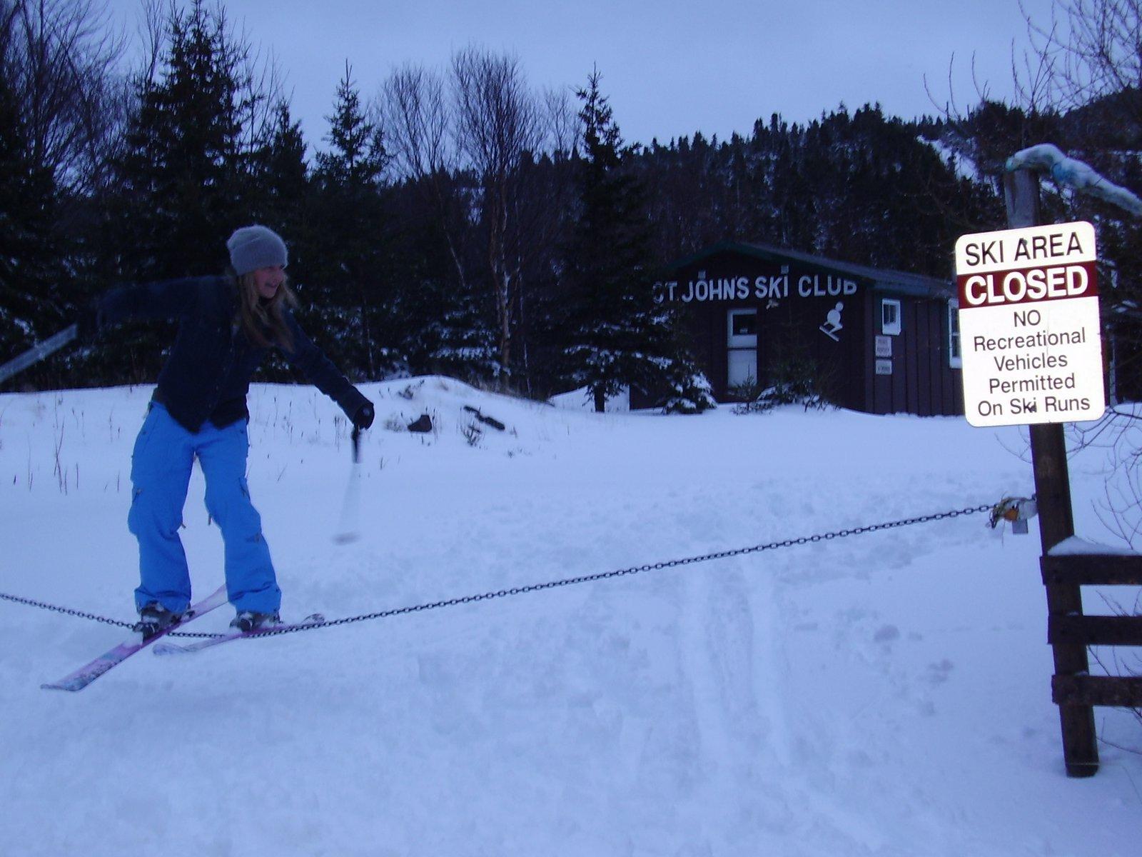 Ski area closed? Jib the gate