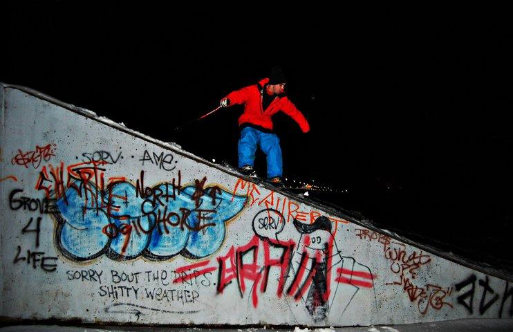 Graffiti Wall Ledge