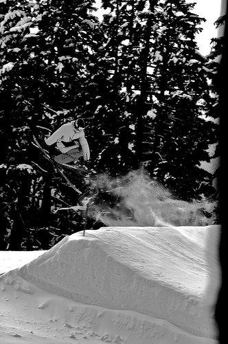 Pow skis