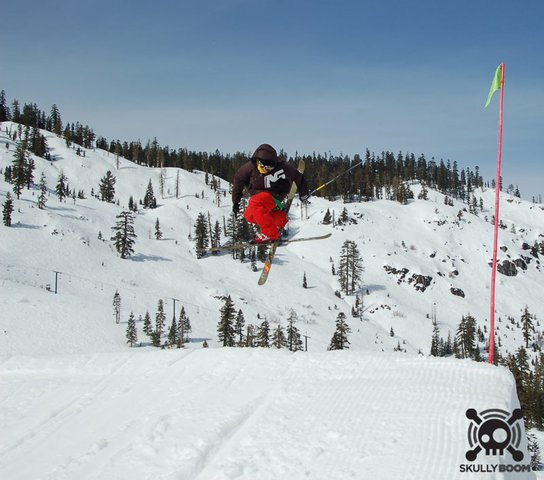 Double Grab at Alpine Meadows