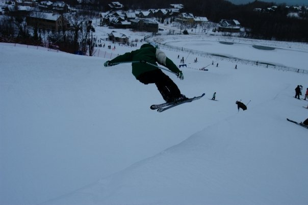 Trying to ski pipe