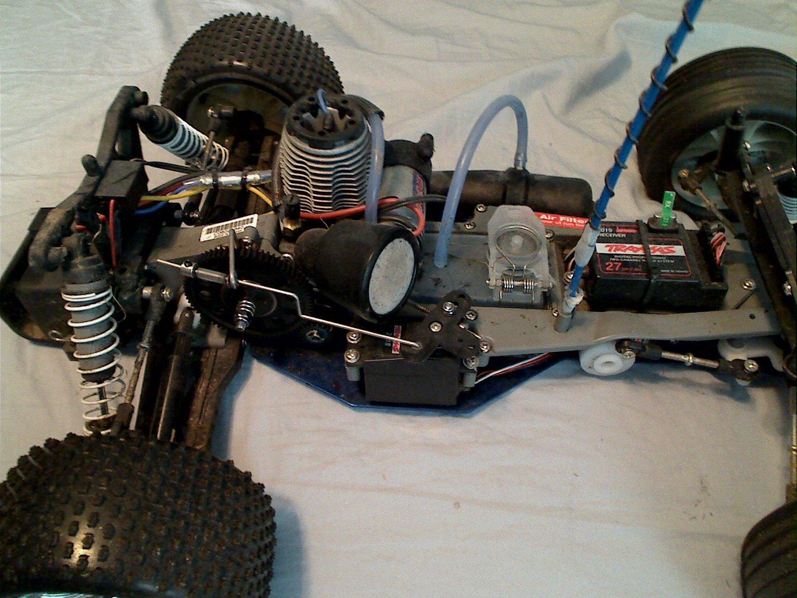 Rustler air filter/rear end