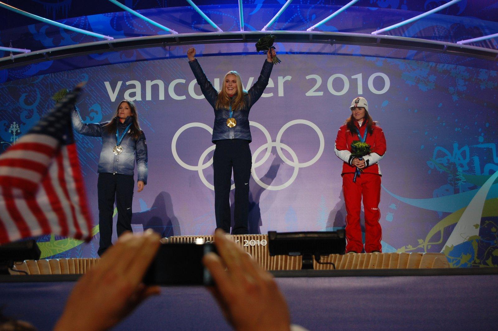 Lindsey Vonn Gold Medal Acceptance
