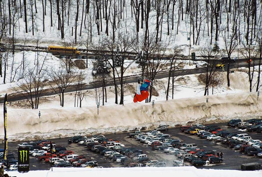 Over parking lot over flip