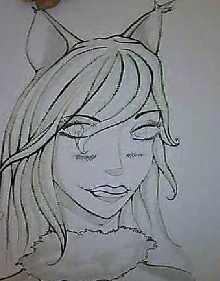 Character sketch for manga project