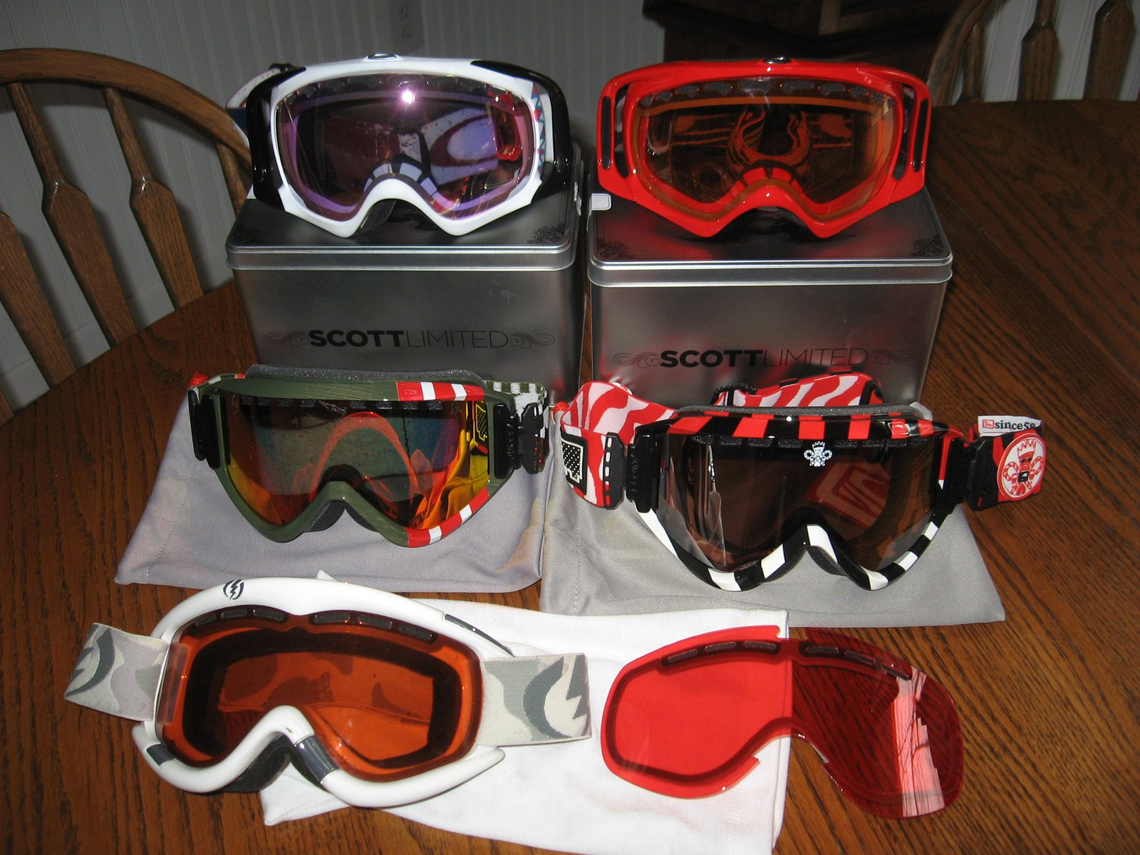 All the goggles