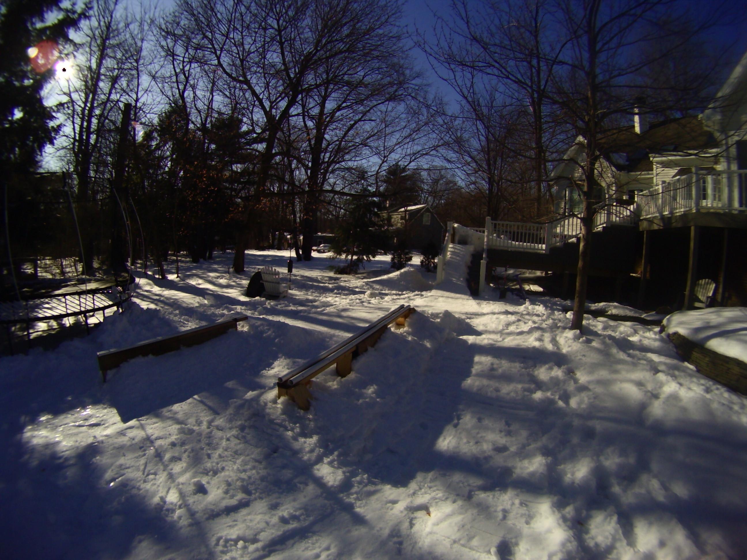 Backyard Winter Setup
