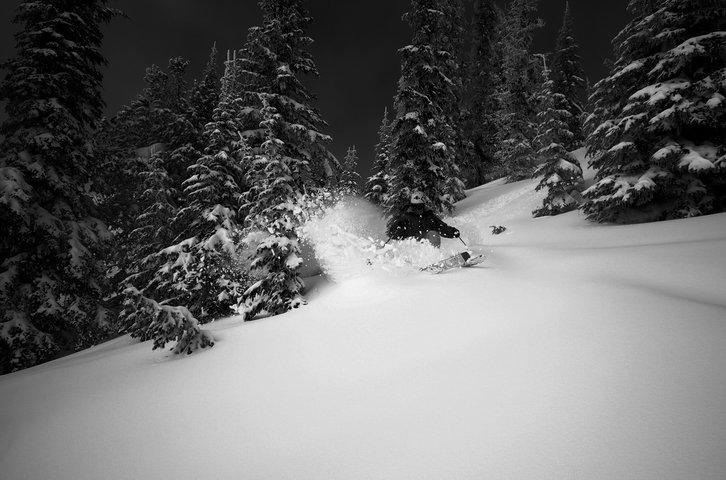 Turning in snow.