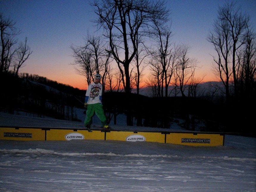 Fun spring skiing at 7springs