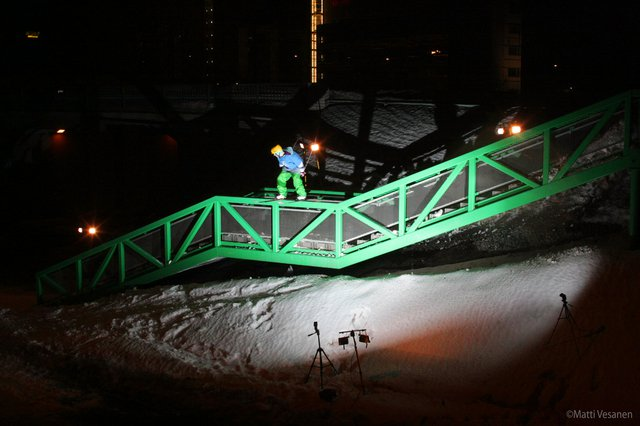 Big green and nasty rail!