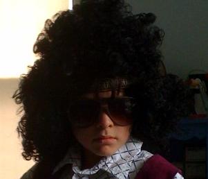 Cousin dressed like hendrix