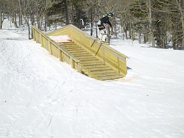 Wooden stair case at killington