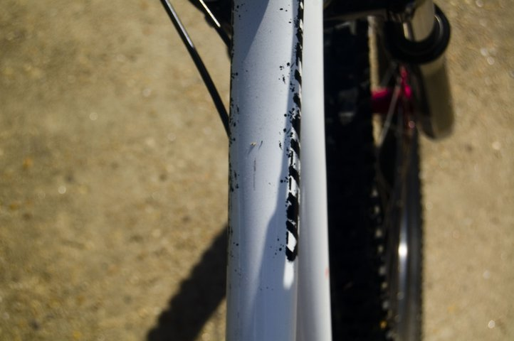 Small toptube scratch