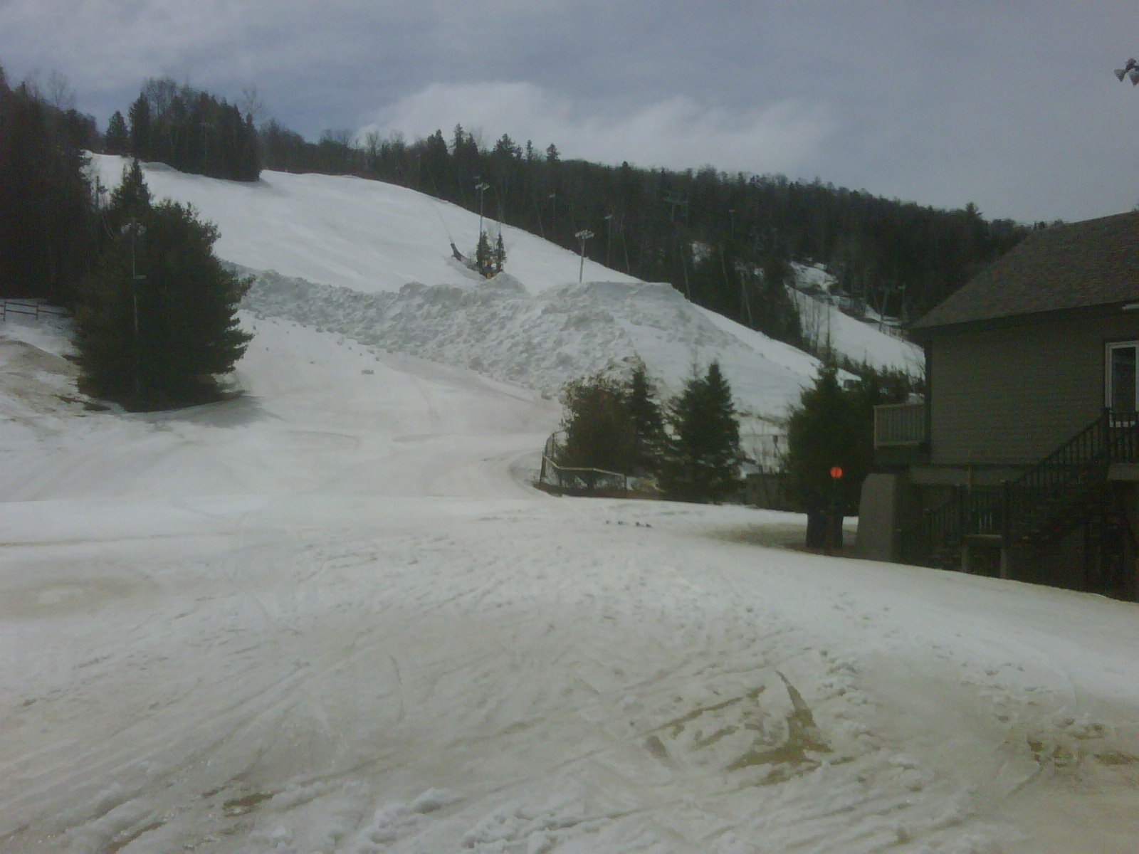 The shake down jump being made at St. Sauveur